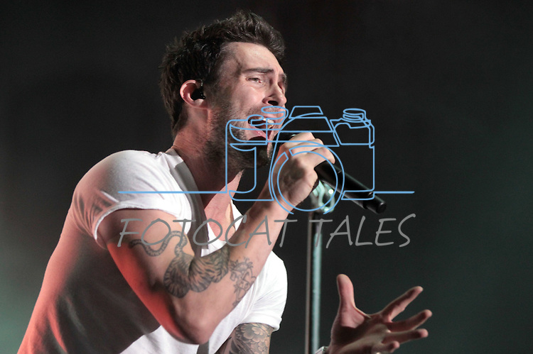 Maroon 5 front man Adam Levine performs at the Harveys Tahoe Outdoor Arena in Stateline, Nev., on Saturday, July 21, 2012..Photo by Cathleen Allison
