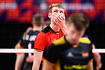 14.09.2019, Paleis 12, BrŸssel / Bruessel<br />Volleyball, Europameisterschaft, Deutschland (GER) vs. Belgien (BEL)<br /><br />Simon Hirsch (#13 GER) enttŠuscht / enttaeuscht / traurig <br /><br />  Foto © nordphoto / Kurth