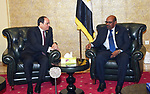 Egyptian President, Abdel Fattah al-Sisi, meets with Sudanese President Omar Hassan al-Bashir at Addis Ababa, Ethiopia, January 27, 2018. Photo by Egyptian President Office