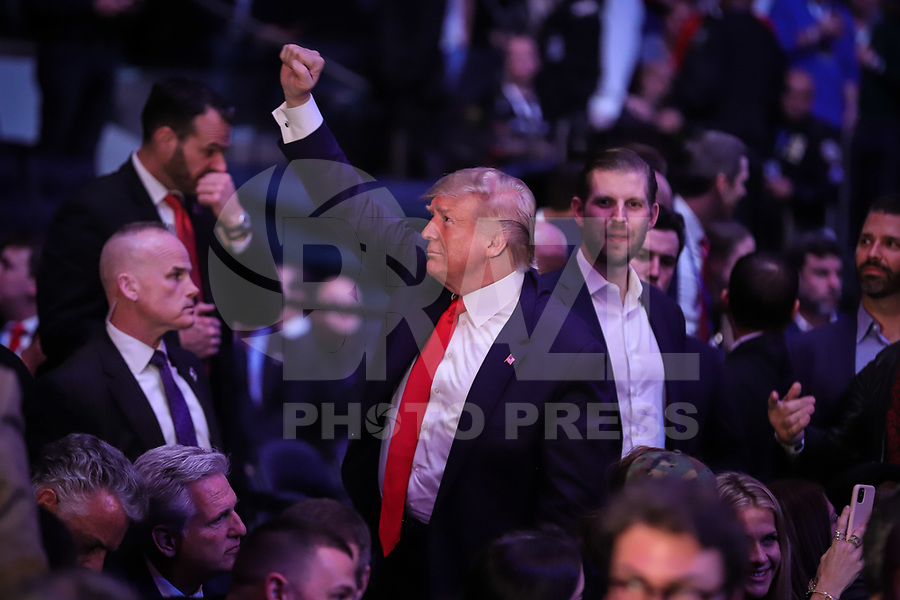 NOVA YORK, EUA, 02.11.2019 - UFC-NOVA YORK - Donald Trump presidente Norte Americano é visto durante o UFC 244 no Madison Square Garden na cidade de Nova York neste sábado, 02. (Foto: Vanessa Carvalho/Brazil Photo Press)