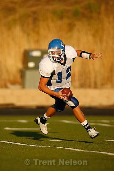 Provo - PG quarterback Dallas Lloyd. Timpview vs. Pleasant Grove high school football Friday, August 21 2009...
