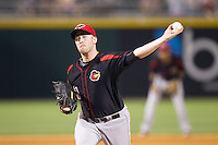Rochester Red Wings relief pitcher Matt Hoffman (21) in action against the Charlotte Knights at BB&T Ballpark on June 5, 2014 in Charlotte, North Carolina.  The Knights defeated the Red Wings 7-6.  (Brian Westerholt/Four Seam Images)