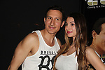 "Actor William DeMeo with Domini Monroe (recording artis, singer, songwriter) - Brooklyn, New York celebratges Actor William DeMeo's upcoming role in Gotti film in which he plays Sammy ""The Bull"" Gravano in a block party on May 23, 2018 along with cast.  (Photo by Sue Coflin/Max Photos)"