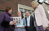 NO FEE PHOTOS 21/03/14 Roisin shortall td,Amee Richardson,David Clarke and DSI President Mary Doherty at World Down Syndrome Day ,The National Advisory Council who are adults with Down syndrome are going to be delivering their manifesto to a bunch of TD's and MEPs and handing out fliers etc.Pictured at Buswells Hotel,Co Dublin this afternoon… Pic Collins Photos