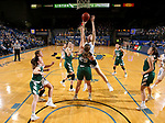 SIOUX FALLS, SD - NOVEMBER 29: Jordan Ferrand #30 from South Dakota State shoots over Lyndsey Robson #25 from Wisconsin Green Bay during their game Thursday night at Frost Arena in Brookings. (Photo by Dave Eggen/Inertia)