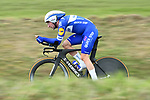 Elia Viviani (ITA) Quick-Step Floors in action during Stage 4 of the Paris-Nice 2018 an 18km individual time trial running from La Fouillouse to Saint-Etienne, France. 7th March 2018.<br /> Picture: ASO/Alex Broadway | Cyclefile<br /> <br /> <br /> All photos usage must carry mandatory copyright credit (&copy; Cyclefile | ASO/Alex Broadway)
