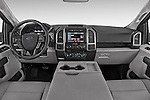 Straight Dashboard View of 2015 Ford F-150 XLT SuperCab 2 Door Truck Stock Photo