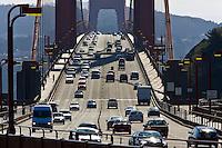 Traffic on the Golden Gate Bridge, San Francisco, California, United States of America