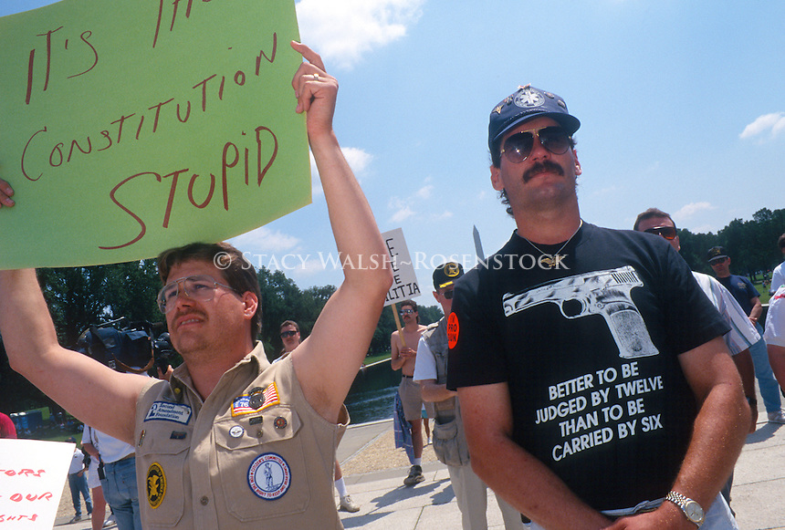 Gun enthusiasts at a Second amendment rally organized by the Committee for 1776
