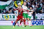 Stockholm 2014-05-04 Fotboll Superettan Hammarby IF - IFK V&auml;rnamo :  <br /> V&auml;rnamos Dzenis Kozica i kamp om bollen med Hammarbys Jan Gunnar Solli <br /> (Foto: Kenta J&ouml;nsson) Nyckelord:  Superettan Tele2 Arena Hammarby HIF Bajen V&auml;rnamo