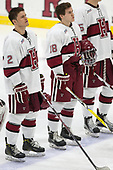 Tyler Moy (Harvard - 2), Adam Fox (Harvard - 18) - The Harvard University Crimson defeated the St. Lawrence University Saints 6-3 (EN) to clinch the ECAC playoffs first seed and a share in the regular season championship on senior night, Saturday, February 25, 2017, at Bright-Landry Hockey Center in Boston, Massachusetts.