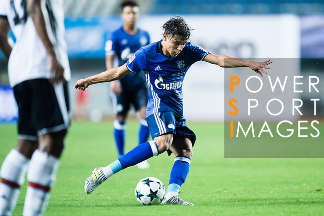 FC Schalke Midfielder Amine Harit attempts a kick for score his goal during the Friendly Football Matches Summer 2017 between FC Schalke 04 Vs Besiktas Istanbul at Zhuhai Sport Center Stadium on July 19, 2017 in Zhuhai, China. Photo by Marcio Rodrigo Machado / Power Sport Images