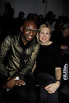 Luke Destin (celebrity stylist for Oprah) and Kelly Rutherford (Generations, Melrose Place, Generations) at Runway Show presented by RUSK during the fall/winter 2014 Nolcha Fashion Week - spotlighting independent designers on February 12, 2014 at Pier 59, New York City, New York.  (Photo by Sue Coflin/Max Photos)