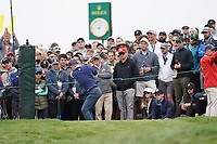 Luke Donald (ENG) on the 9th tee during the 3rd round of the US Open Championship, Pebel Beach Golf Links, Monterrey, Calafornia, USA. 15/06/2019.<br /> Picture Fran Caffrey / Golffile.ie<br /> <br /> All photo usage must carry mandatory copyright credit (© Golffile | Fran Caffrey)