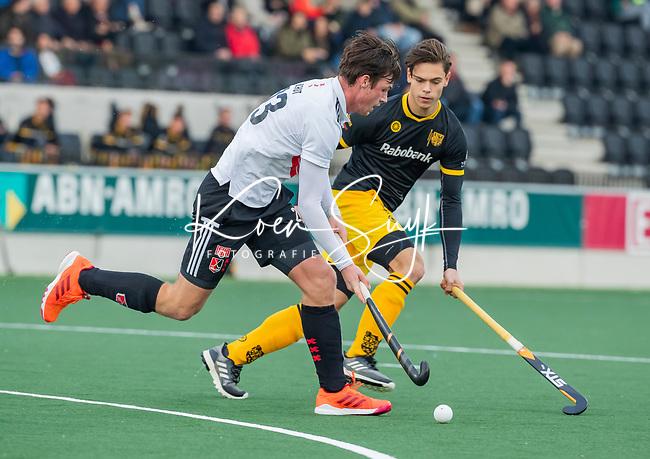 AMSTELVEEN - Wiegert Schut (Adam)   tijdens de competitie hoofdklasse hockeywedstrijd mannen, Amsterdam- Den Bosch (2-3).  COPYRIGHT KOEN SUYK