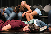 Dawg Daze: &quot;Hypnotized&quot; show featuring Michael C. Anthony.  While under hypnosis, student volunteers fall asleep at the snap of Michael's fingers and obey his most ridiculous suggestions.<br />  (photo by Megan Bean / &copy; Mississippi State University)