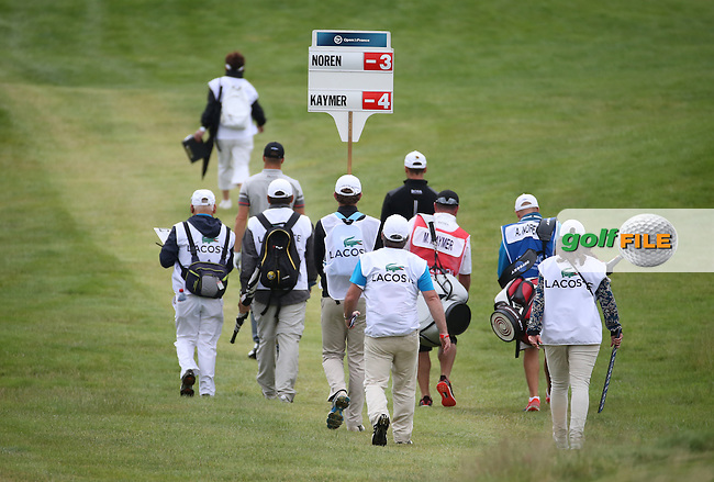 Martin Kaymer (GER) heads down the 18th during the Final Round of the 100th Open de France, played at Le Golf National, Guyancourt, Paris, France. 03/07/2016. Picture: David Lloyd | Golffile.<br /> <br /> All photos usage must carry mandatory copyright credit (&copy; Golffile | David Lloyd)