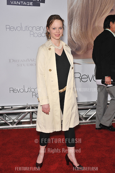 "Thora Birch at the world premiere of ""Revolutionary Road"" at Mann Village Theatre, Westwood..December 15, 2008  Los Angeles, CA.Picture: Paul Smith / Featureflash"