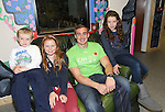 25/10/2014.   Munster Rugby's Tommy O'Donnell an ambassador of iCAN (Irish Childrens Arthritis Network)photographed on Saturday in Kids Town, Gillogue with Ruaidhri(5) and Allanah Mitchell(12) and Maggie Whelan(11).<br /> Picture: Liam Burke/Press 22
