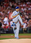 13 October 2016: Los Angeles Dodgers starting pitcher Rich Hill on the mound during the NLDS Game 5 against the Washington Nationals at Nationals Park in Washington, DC. The Dodgers edged out the Nationals 4-3, to take Game 5, and the Series, 3 games to 2, moving on to the National League Championship against the Chicago Cubs. Mandatory Credit: Ed Wolfstein Photo *** RAW (NEF) Image File Available ***
