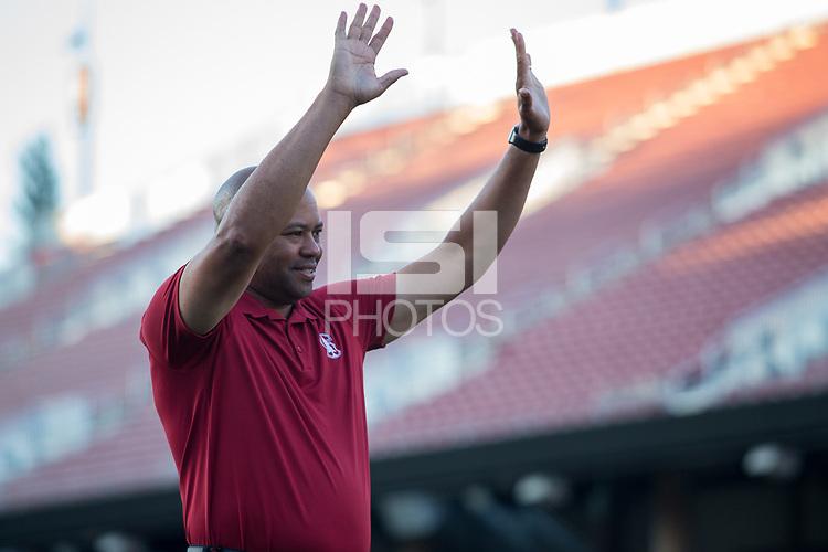 Santa Clara, CA - August 6, 2017: Stanford Football Season Ticket Member Kickoff BBQ at Stanford Stadium.