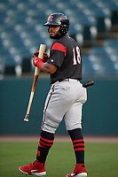 Richmond Flying Squirrels Heliot Ramos (18) during an Eastern League game against the Bowie Baysox on August 15, 2019 at Prince George's Stadium in Bowie, Maryland.  Bowie defeated Richmond 4-3.  (Mike Janes/Four Seam Images)