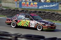 Round 10 of the 1991 British Touring Car Championship. #21 David Brodie (GB). BBR. Ford Sierra Sapphire.