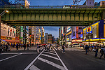 Busy crossing in Akihabara known as Electric Town in Tokyo, Japan