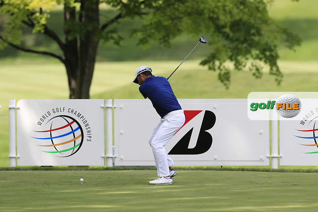 Pablo LARRAZABAL (ESP) tees off the 11th tee during the first round of the 2015 Bridgestone Invitational World Golf Championship held at the Firestone Country Club, Akron, Ohio, United States of America. 6/08/2015.<br /> Picture Eoin Clarke, www.golffile.ie