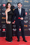 Anna Ruiz and Alberto Garzon attends red carpet of Goya Cinema Awards 2018 at Madrid Marriott Auditorium in Madrid , Spain. February 03, 2018. (ALTERPHOTOS/Borja B.Hojas)