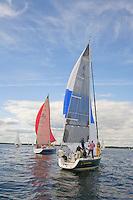 Sailing in Raritan Bay, Raritan Yacht Club, Perth Amboy, New Jersey