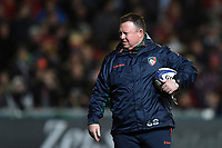 Leicester Tigers Head Coach Matt O'Connor looks on during the pre-match warm-up. European Rugby Champions Cup match, between Leicester Tigers and Munster Rugby on December 17, 2017 at Welford Road in Leicester, England. Photo by: Patrick Khachfe / JMP
