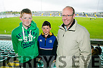 Shane Donnellan, John Murphy and Leonard Donnellan at Kerry's win over Carlow at Austin Stack's park on Sunday