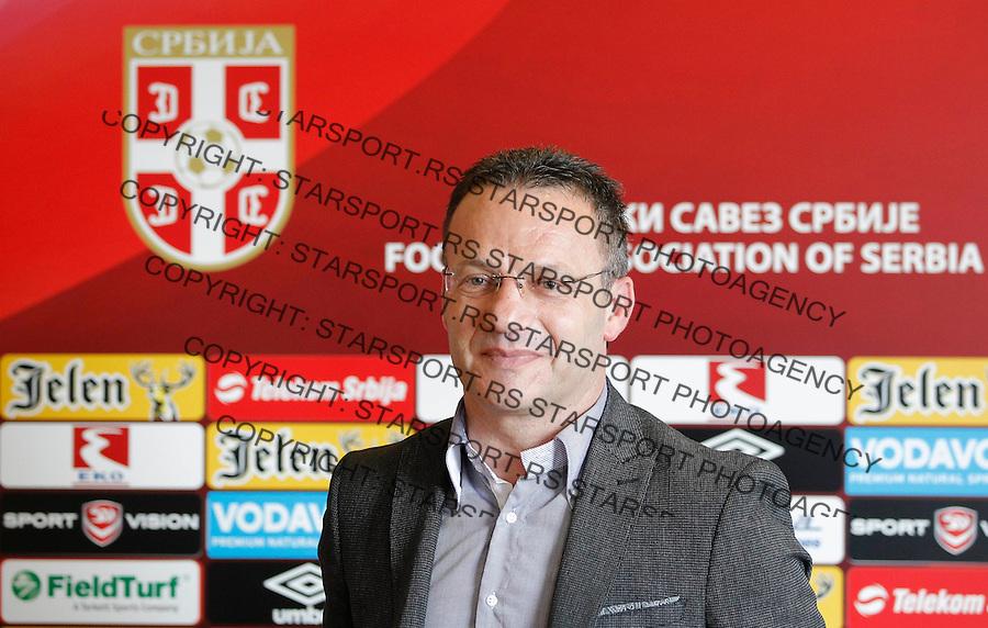 Fudbal soccer <br /> Mladen Dodic-selektor U21 selekcije Head coach<br /> Beograd, 29.05.2015.<br /> foto: Srdjan Stevanovic/Starsportphoto &copy;