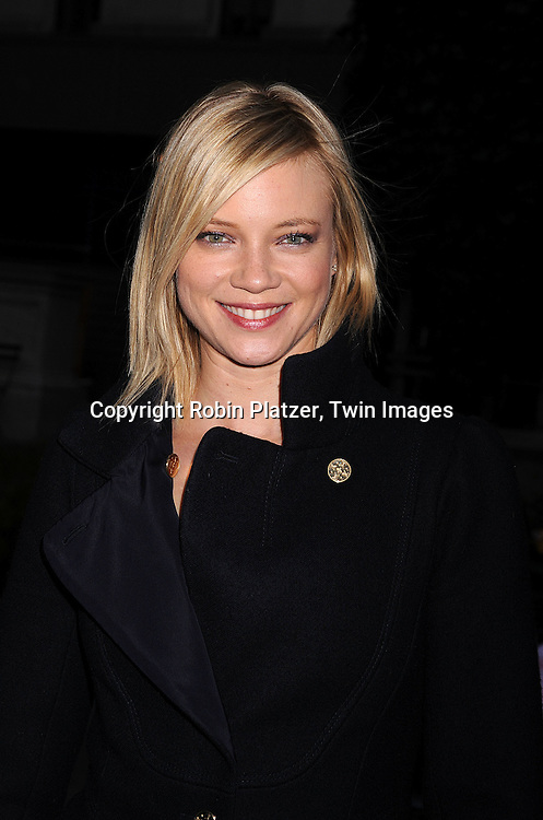 Amy Smart..arriving at The Mercedes-Benz Fashion Week New York..Fall 2008 Collections of Tracy Reese and Diane von Furstenberg on February 3, 2008 in New York City in ..Bryant Park. ..Robin Plater, Twin Images....212-935-0770