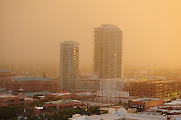 "Phoenix, Arizona (September 6, 2014) -- A massive dust storm sweeps into the Phoenix metropolitan area blanketing the Valley. The phenomenon created a massive wall of dust, also called ""baboob"". The dust storm was followed by thunderstorms producing very heavy rain.  Photo by Eduardo Barraza © 2014"