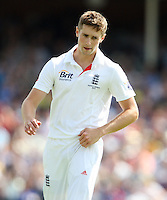 Chris Woakes of England - England vs Australia - 1st day of the 5th Investec Ashes Test match at The Kia Oval, London - 21/08/13 - MANDATORY CREDIT: Rob Newell/TGSPHOTO - Self billing applies where appropriate - 0845 094 6026 - contact@tgsphoto.co.uk - NO UNPAID USE