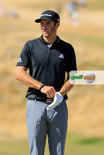 Dustin JOHNSON (USA) on the 6th green during Friday's Round 2 of the 2015 U.S. Open 115th National Championship held at Chambers Bay, Seattle, Washington, USA. 6/20/2015.<br /> Picture: Golffile | Eoin Clarke<br /> <br /> <br /> <br /> <br /> All photo usage must carry mandatory copyright credit (&copy; Golffile | Eoin Clarke)