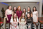 Sweet Sixteen : Caoimhe Mawe, The Spa, Tralee (seated centre) had a cool time celebrating her 16th birthday with fun and pizza in La Scala, Tralee last Friday night (seated) l-r: Claire Horgan, Caoimhe Mawe and Kaithlin Corcoran. Back l-r: Niamh Dillane, Helen Dowling, Ciara McEllistrim, Noirín Kennelly, Niamh Hanafin and Aisling McCarthy.
