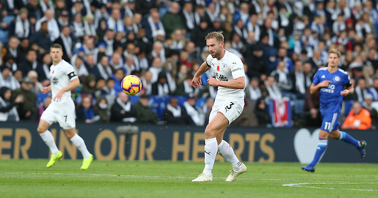 Burnley's Charlie Taylor<br /> <br /> Photographer Stephen White/CameraSport<br /> <br /> The Premier League - Saturday 10th November 2018 - Leicester City v Burnley - King Power Stadium - Leicester<br /> <br /> World Copyright © 2018 CameraSport. All rights reserved. 43 Linden Ave. Countesthorpe. Leicester. England. LE8 5PG - Tel: +44 (0) 116 277 4147 - admin@camerasport.com - www.camerasport.com