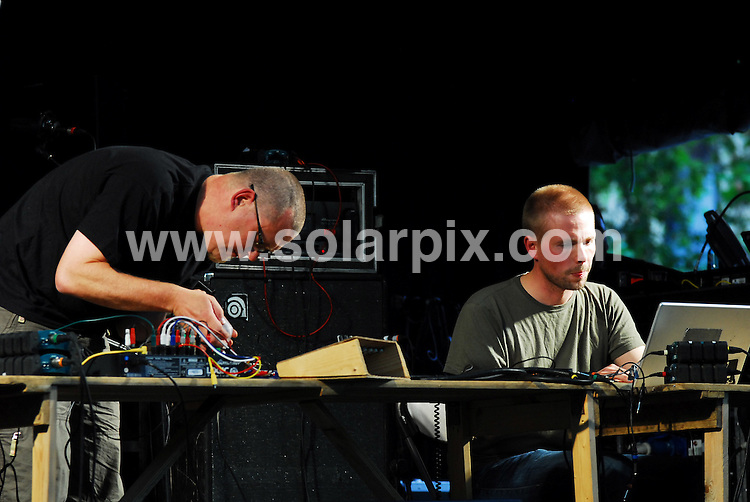 **ALL ROUND PICTURES FROM SOLARPIX.COM**.**WORLDWIDE SYNDICATION RIGHTS**.The Midsummer Festival of Architecture and Music held on the Saturday 21st June along Exhibition Road in London. It was a free event to promote international music and architecture. The headlining act British Sea Power played in the National History Museum. 21st June 2008..This pic: Owl Project..JOB REF: 6751 DVD     DATE: 21_06_2008.**MUST CREDIT SOLARPIX.COM OR DOUBLE FEE WILL BE CHARGED* *UNDER NO CIRCUMSTANCES IS THIS IMAGE TO BE REPRODUCED FOR ANY ONLINE EDITION WITHOUT PRIOR PERMISSION*