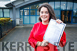 Ciara McCarthyfrom Tralee, who received her Leaving Certificate results at Mercy Mounthawk Secondary School, Tralee, on Wednesday morning last.