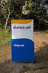The Dunes between Scheveningen and Katwijk Holland. Dunea sign Meijendel