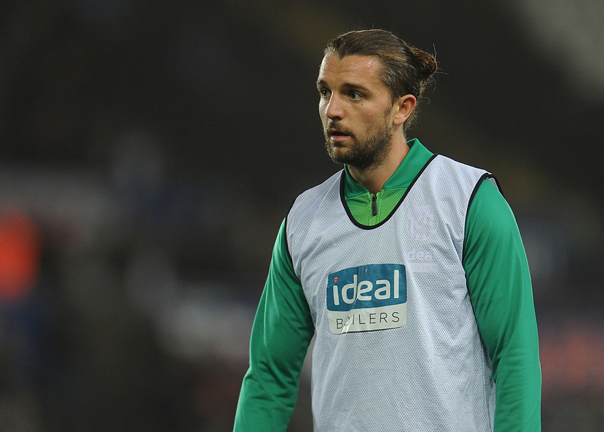 West Bromwich Albion's Jay Rodriguez during the pre-match warm-up <br /> <br /> Photographer Kevin Barnes/CameraSport<br /> <br /> The EFL Sky Bet Championship - Swansea City v West Bromwich Albion - Wednesday 28th November 2018 - Liberty Stadium - Swansea<br /> <br /> World Copyright © 2018 CameraSport. All rights reserved. 43 Linden Ave. Countesthorpe. Leicester. England. LE8 5PG - Tel: +44 (0) 116 277 4147 - admin@camerasport.com - www.camerasport.com