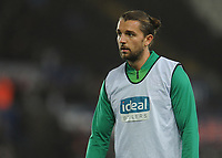 West Bromwich Albion's Jay Rodriguez during the pre-match warm-up <br /> <br /> Photographer Kevin Barnes/CameraSport<br /> <br /> The EFL Sky Bet Championship - Swansea City v West Bromwich Albion - Wednesday 28th November 2018 - Liberty Stadium - Swansea<br /> <br /> World Copyright &copy; 2018 CameraSport. All rights reserved. 43 Linden Ave. Countesthorpe. Leicester. England. LE8 5PG - Tel: +44 (0) 116 277 4147 - admin@camerasport.com - www.camerasport.com