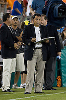 CD Guadalajara coach Efrain Flores.  CD Guadalajara defeated Houston Dynamo 1-0 during the group stage of the Superliga 2008 tournament at Robertson Stadium in Houston, TX on July 15, 2008.
