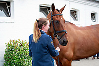 AUS-Emma McNab with Fernhill Tabasco during the Horse Inspection for the DHL-Preis - Eventing Nations Cup CICO3*. 2017 GER-CHIO Aachen Weltfest des Pferdesports. Thursday 20 July. Copyright Photo: Libby Law Photography
