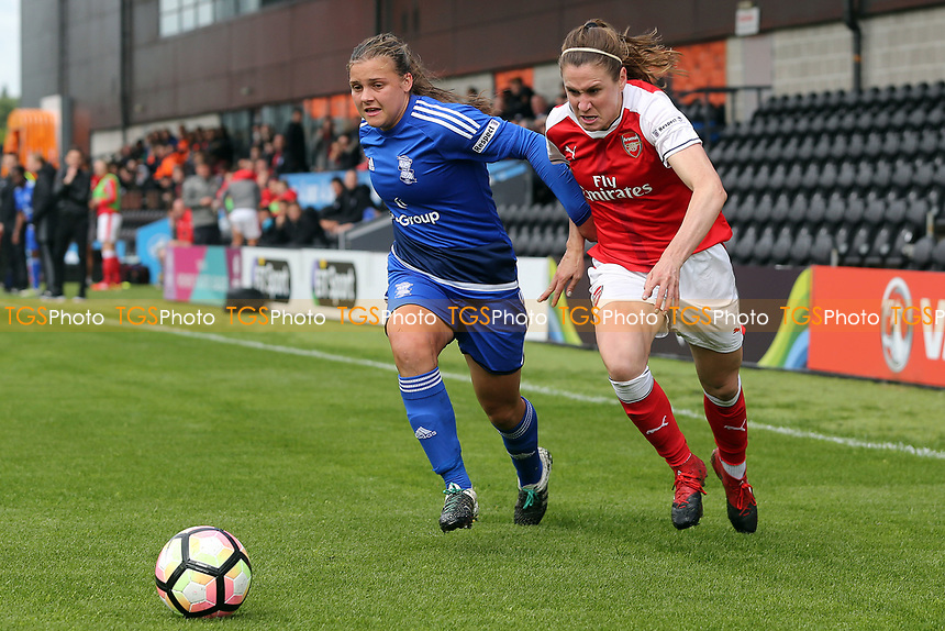 Emily Westwood of Birmingham City Ladies and Heather O'Reilly of Arsenal Ladies during Arsenal Ladies vs Birmingham City Ladies, FA Women's Super League FA WSL1 Football at the Hive Stadium on 20th May 2017