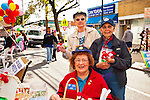 Three Auxiliary members of American Legion post fundraising at Merrick Street Fair in Merrick, New York, USA, on October 22, 2011