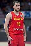 Spain Quino Colom during European Qualifiers to China 2019 World Cup match between Spain and Montenegro at Principe Felipe Stadium in Zaragoza , Spain. February 22, 2018. (ALTERPHOTOS/Borja B.Hojas)